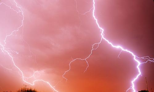 das Blitz-Licht-Foto
